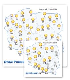 Darmowa mapa pogody
